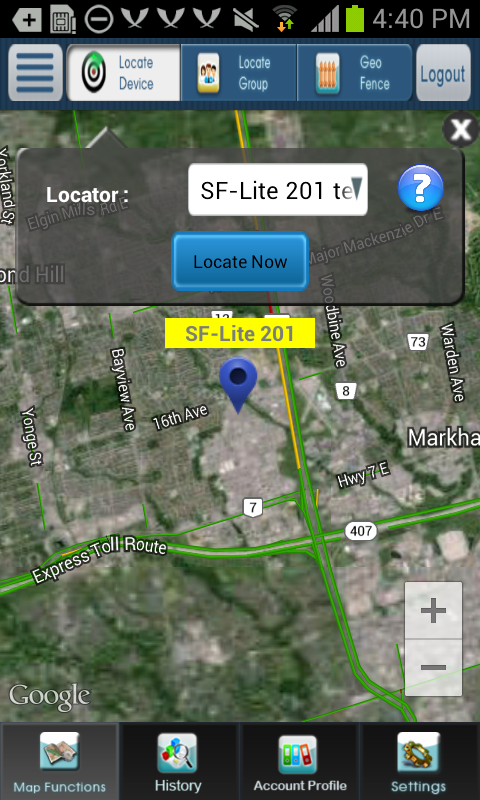 Location Now- screenshot
