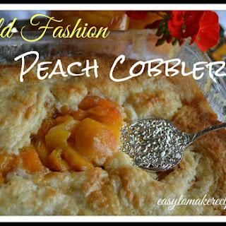 Old Fashion Peach Cobbler Recipe