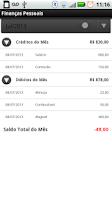 Screenshot of Finanças Pessoais