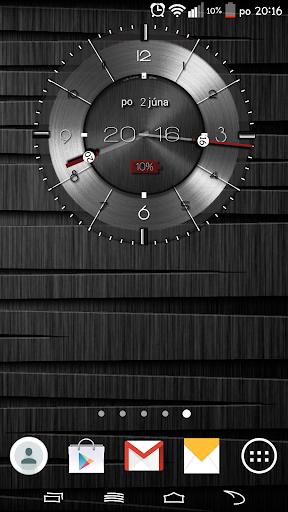 Metallic clock widget