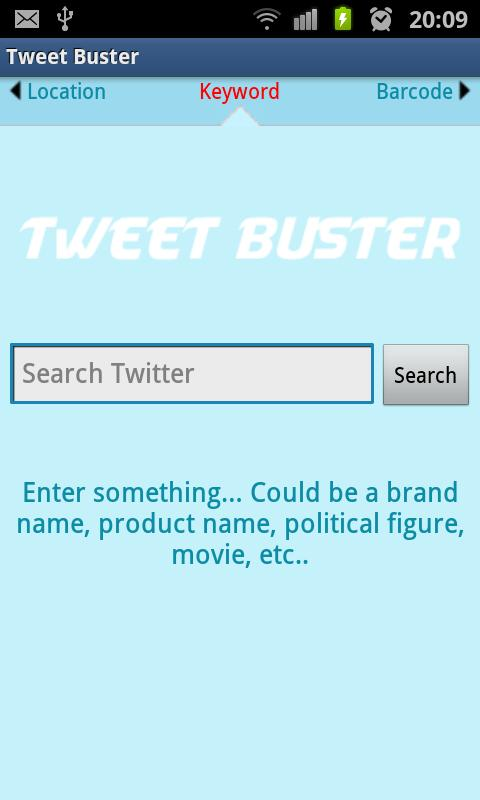 TweetBuster: Twitter Sentiment- screenshot