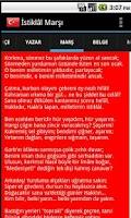 Screenshot of İstiklâl Marşı