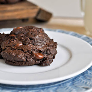 Triple Threat Chocolate Fudge Peanut Butter Cookies.