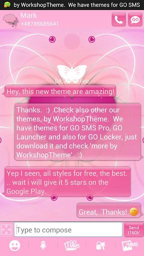 GO SMS Pro Theme Romantic Buy