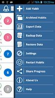 Screenshot of iPro Habit Tracker