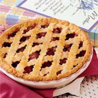 Rhubarb Raspberry Pie.