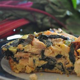 Salmon and Swiss Chard Quiche.