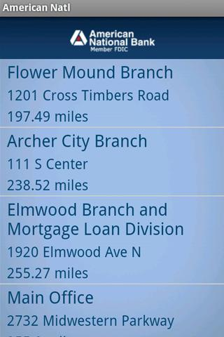American National Bank Mobile - screenshot