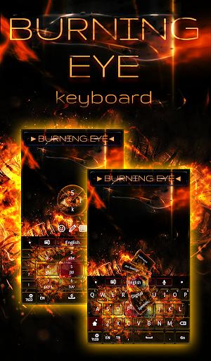 眼のキーボードを燃焼