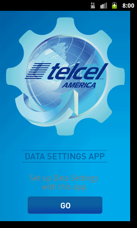 Telcel America Data Settings - screenshot