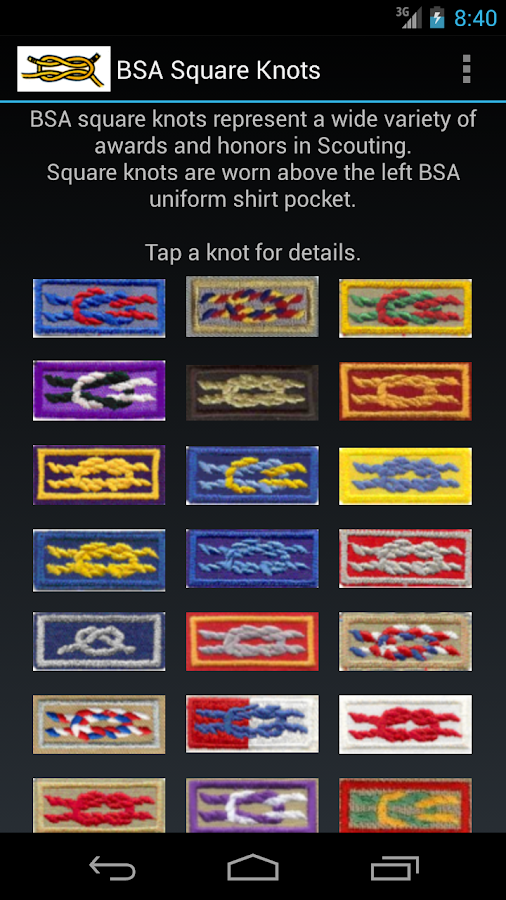 BSA Square Knots - screenshot