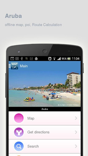 Aruba Map offline