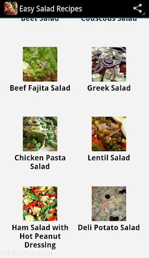 Easy Salade Recipes