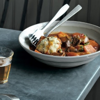 Slow Cooked Beef In Ale With Stilton Dumplings