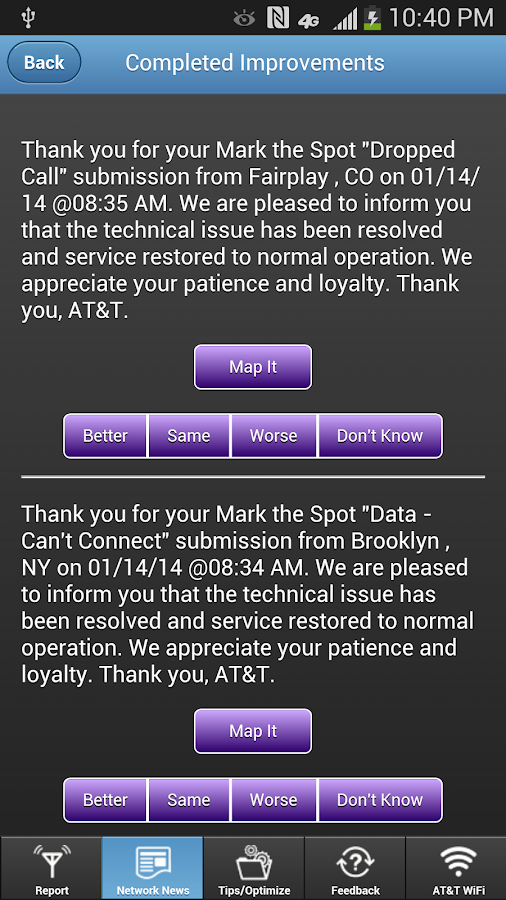 AT&T Mark the Spot- screenshot