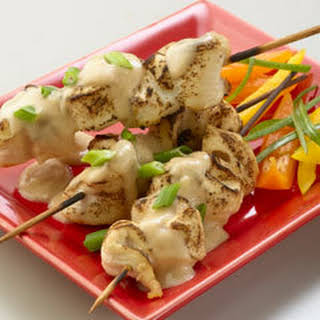 Peanut Chicken Satay.