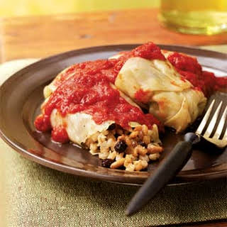 Barley-Stuffed Cabbage Rolls with Pine Nuts and Currants.