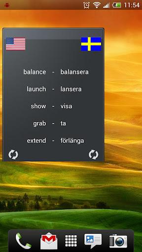 Learn Swedish widget