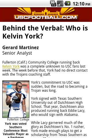 USCFootball.com Mobile - screenshot
