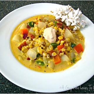 Popcorn Soup (Roasted Corn Chowder).