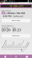 Screenshot of T-on-Time Boston Commuter Rail