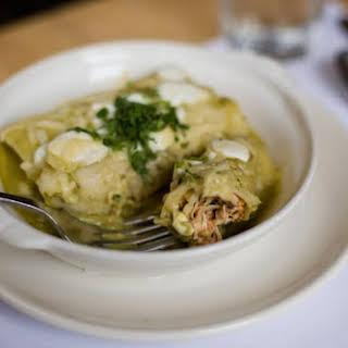 Enchiladas Suizas Recipe with Chicken.