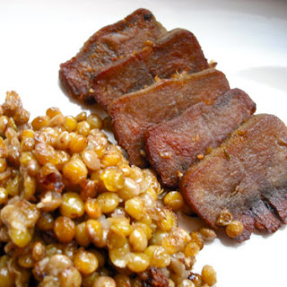 Confit of Pork Tongue with Warm Lentil Salad