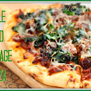 Sausage and Kale Pizza.
