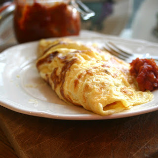 Three Egg Omelette With Hot Tomato Jam