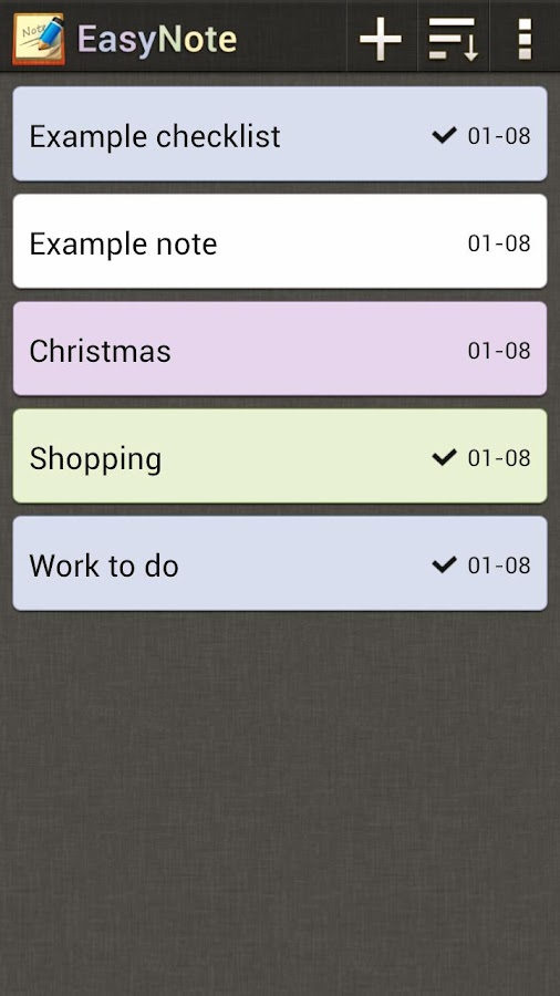 EasyNote Notepad | To Do List - screenshot