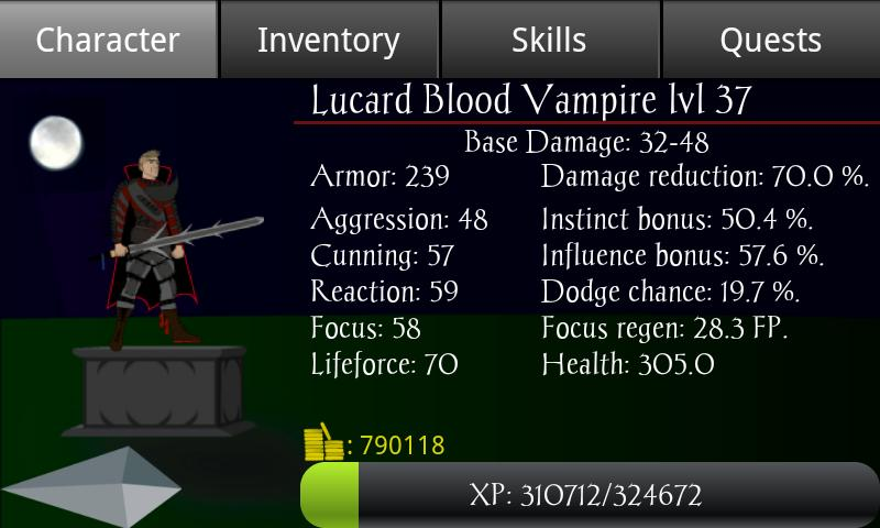 Vampire's Fall RPG - screenshot