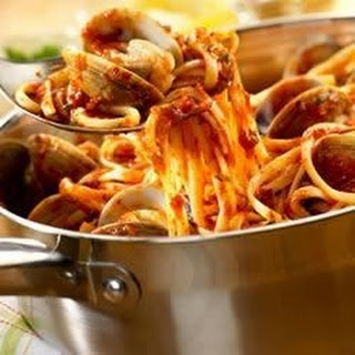 Linguine with Red Clam Sauce.