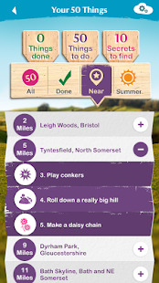National Trust 50 things- screenshot thumbnail
