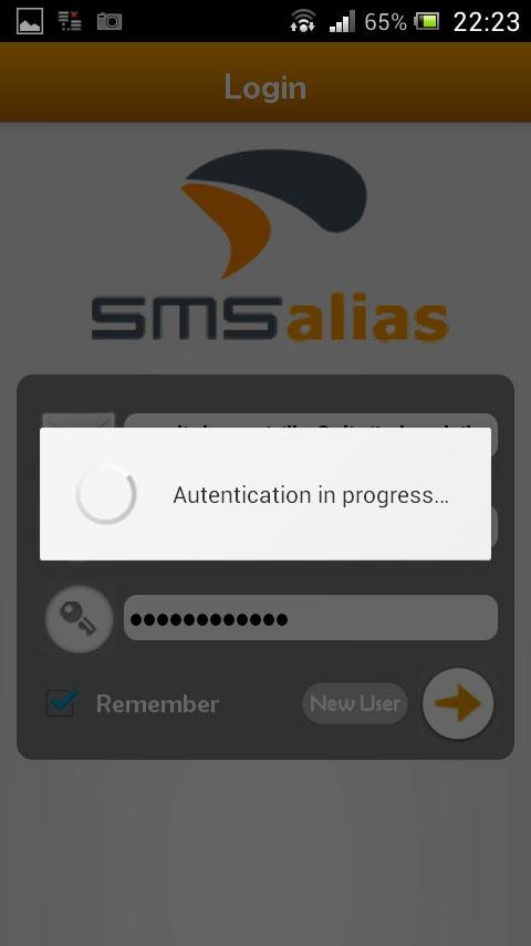 SMSalias- screenshot