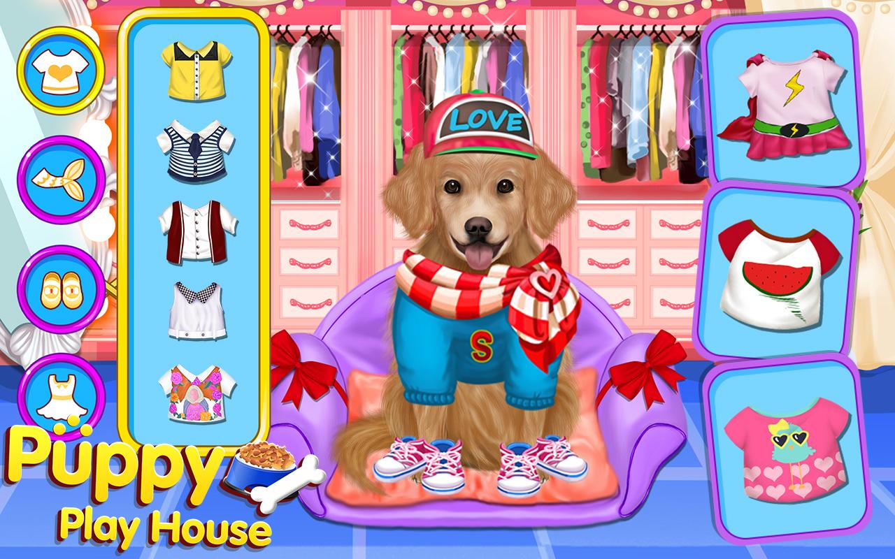 Dress up your pet game - Puppy Dog Sitter Play House Screenshot