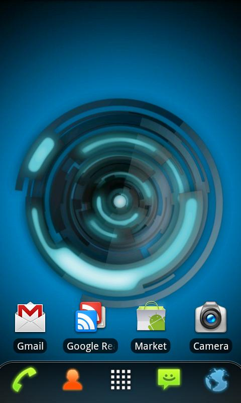 RLW Theme Black Blue Tech - screenshot