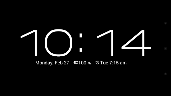 Dock Clock (Night Clock) - screenshot thumbnail
