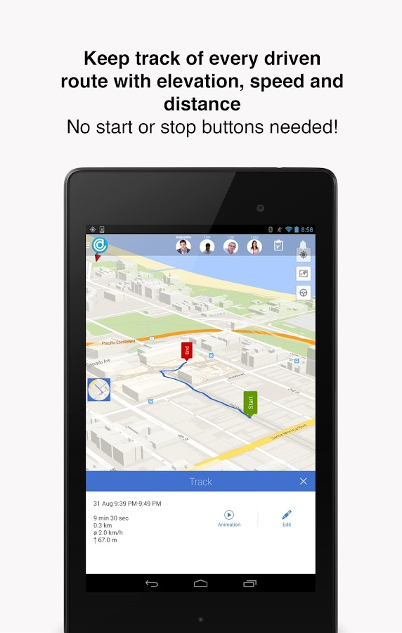 Hellotracks - Location Tracker - screenshot