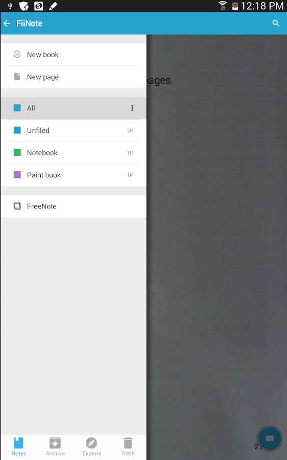 FreeNote 7 - screenshot