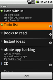 uNote, organized notes - screenshot thumbnail