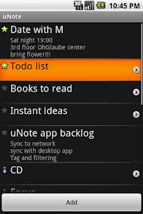 uNote, organized notes - screenshot thumbnail