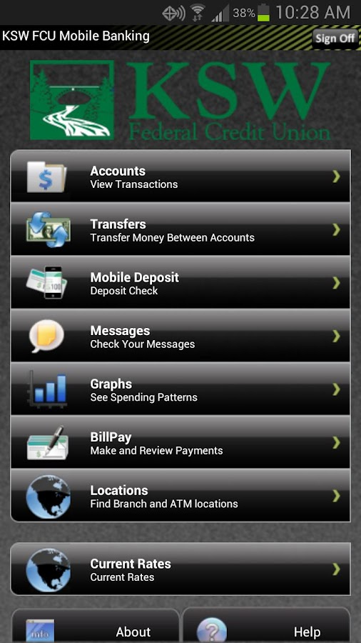 KSW FCU Mobile Banking - screenshot