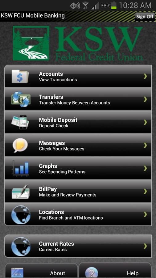 KSW FCU Mobile Banking - screenshot