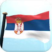 Serbia Flag 3D Free Wallpaper
