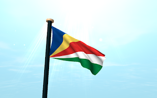 Screenshot of Seychelles Flag 3D Free