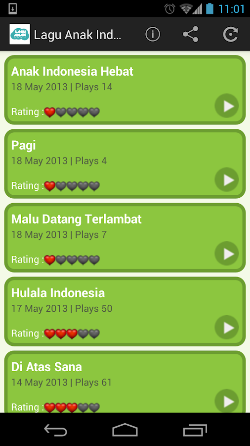 Lagu Anak Indonesia- screenshot