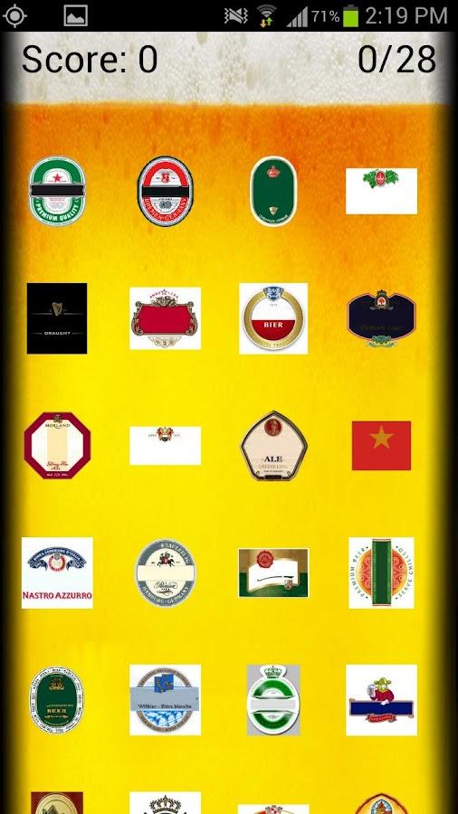 Beer Brand Logo Quiz Beer Logo Quiz Screenshot