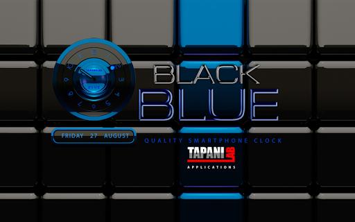 玩個人化App|黑藍色時鐘小部件類比免費|APP試玩