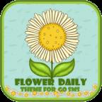GO SMS Theme T-FlowerDaily