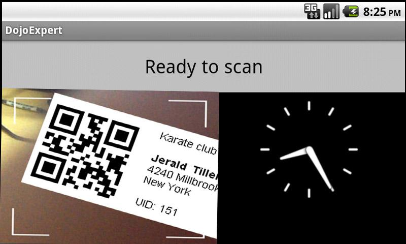 DojoExpert QR code scanner - screenshot